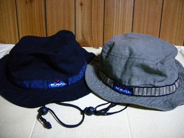 KAVUストラップバケットハット:黒・オリーブ